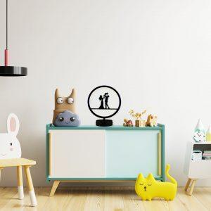 mutlu aile model masa lambası