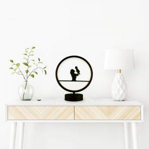 parbek anne ve bebek model masa lambası