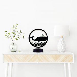 parbek balina model masa lambası