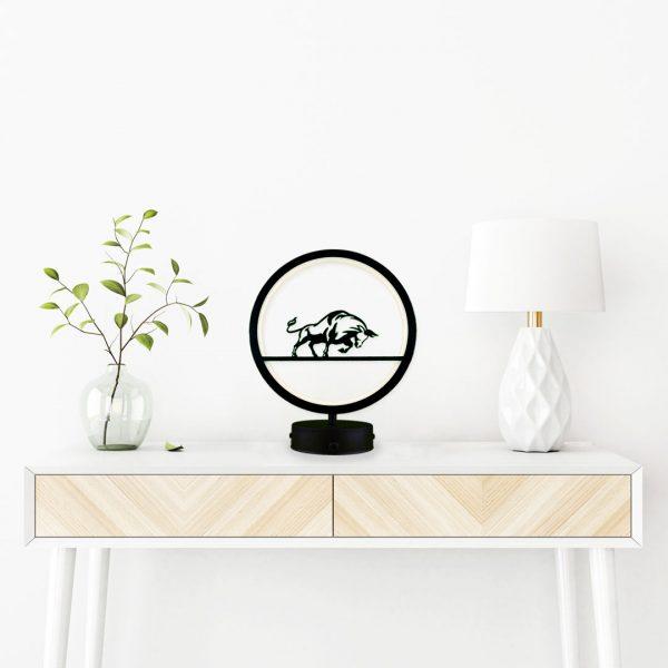 boğa model masa lambası