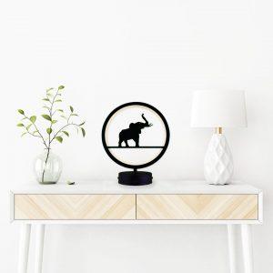 parbek fil model masa lambası