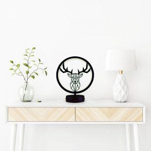 parbek geyik model masa lambası