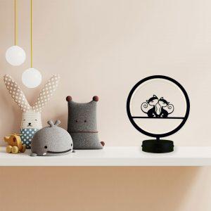 parbek kedi model masa lambası