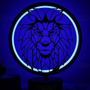 aslan model masa lambası