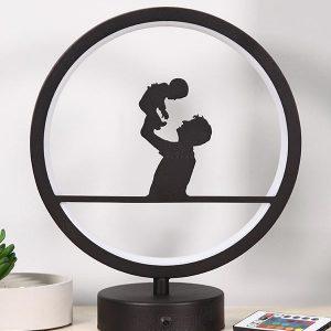 baba ve oğul model masa lambası