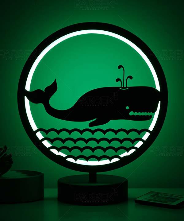 balina model masa lambası