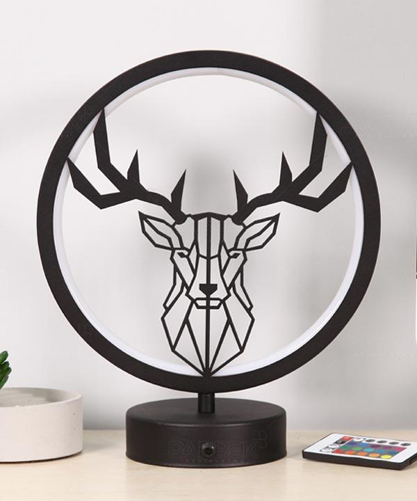 geyik model masa lambası