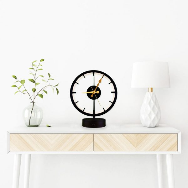 parbek saat model masa lambası