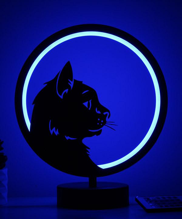 kedi (cat) model masa lambası
