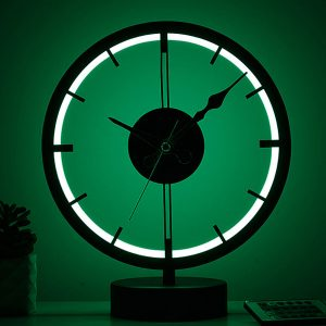saat model masa lambası